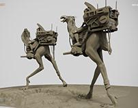 Desert Runners. Clay render