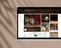Cultural root theme web design