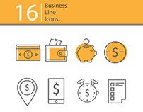 Icons for banking. 3 color options.