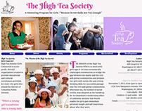 Adobe Dreamweaver Website Design/ High Tea Society