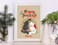 Cute Christmas Greeting Card designs