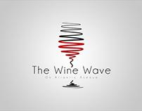 The Wine Wave Miami Logo design