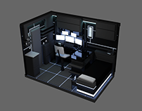 VR Sets 2017: Control Room in Black & Blue