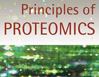Principles of Proteomics book cover design