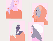 Portraits in pink