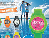 Colección relojes bicolor
