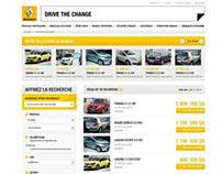 """Renault Algérie, mini site """"vehicules d'occasions"""""""