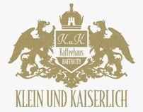 klein und kaiserlich K.u.K. Kaffeehaus logo design