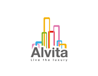 ALVITA - luxurious living compound - Logo Design