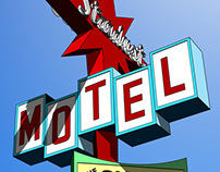 Stardust Motel Sign Illustration