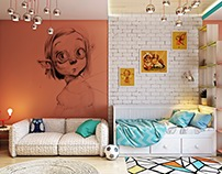 Kids Room: 3d Rendering