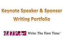 Keynote Speaker & Sponsor Writing Portfolio