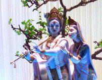 Radha Krishna & Ganesha Window Display