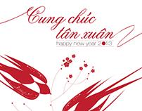 Greeting cards for Dem Trang studio