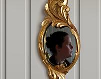 Gilded mirror frame