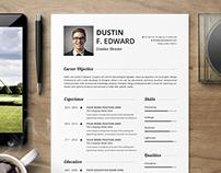 Premium Resume CV Template Set