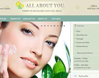 Beauty Center Website & Logo