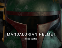 Boba Fett's 3D modeled helmet