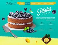 Parallax Web Design - Delizart
