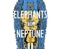 "Elephants From Neptune shirt design and EP ""II"" cover"