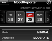Mood Reporter, iPhone Application