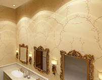 Classical Powder Room / Washroom Design
