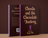 Charlie and the Chocolate Factory book cover spread