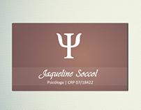 Cartão de Visita - Psicologa Jaqueline Soccol