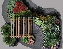 2D PHOTOSHOP CS6 GRAPHICS- Xeriscape Garden Colorado