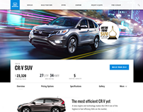 Concept Honda Website Redesign