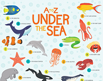 A to Z Under the Sea Poster
