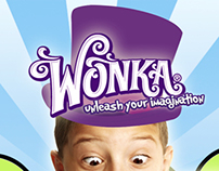 Wonka Candy Advertisement Poster