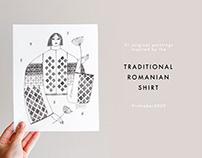 Copy of Romanian Traditional Shirt