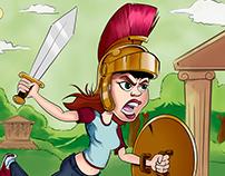Modern gladiator woman