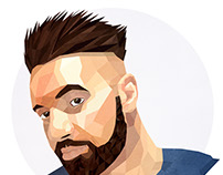 Autoportrait - Low Poly Illustration - PORTRAIT
