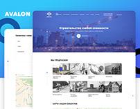 Avalon website design