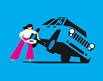 TrueCar Illustration Campaign