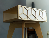 Double sided nightstand