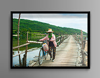The Longest Wooden Bridge in Phu Yen, Vietnam