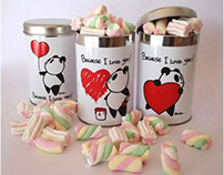 St. Valentine's PANDA cans