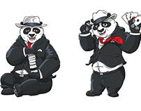 Loco Panda Mascot-design