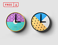Free Clock Mockup