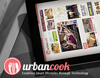 Urbancook branding, website and mobile app