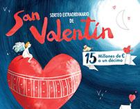 LOTERIA NACIONAL, SORTEO EXTRAORDINARIO DE SAN VALENTIN