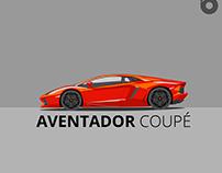 LAMBORGHINI AVENTADOR Flat Design Animation