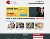 BAM - website layout design