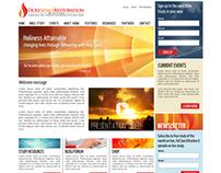 Layout proposal for presentation website