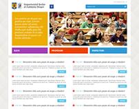 Layout proposal for presentation website.