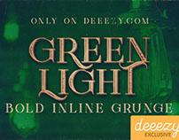 Green Light Bold Inline Grunge FREE Font