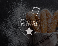 Logo Design for bakery of Churros - Churros Tu i Teraz